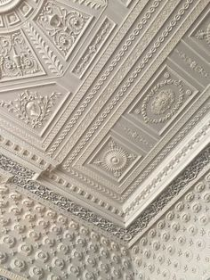 Plaster ceiling by Joseph Rose - trained by the Adams brothers and often used their patterns