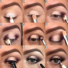 Image via How to Apply Smokey Eyeshadow Step by Step Image via See make-up ideas Step by Step. Make-up in purple and blue tones. Image via Make-up lessons for beginners as beautif Beautiful Bridal Makeup, Bridal Makeup Looks, Love Makeup, Makeup Inspo, Wedding Makeup, Makeup Inspiration, Easy Makeup Looks, Cute Eye Makeup, Amazing Makeup