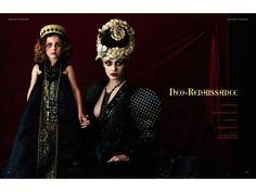 #Luzhina #darkbeautymagazine  #JenkasFashion #couture #Russian #renaissance #costumes