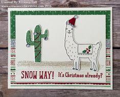 Christmas Llama #creatinwithkirsteen #stampinup #Llama