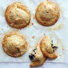 Savoury handpies with cheddar crust - mushroom spinach filling?