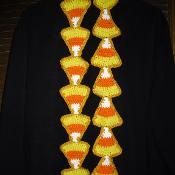 Candy Corn Applique and Scarf