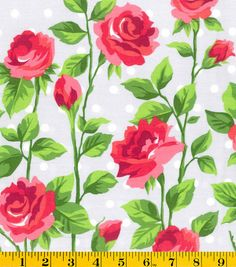 Gertie Collection Fabrics- Sateen Rose Dot Fabric