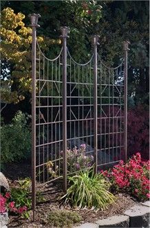 Add Classic Definition To The Garden With An Outdoor Iron Trellis