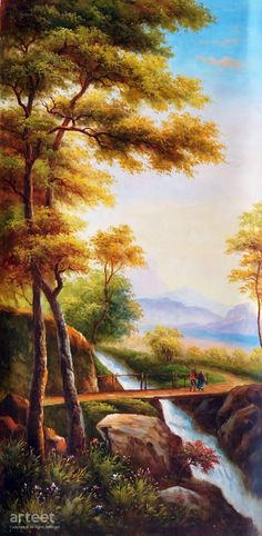 The Country Bridge – Arteet Gallery The Country Bridge The Country Bridge, Art Painting / Oil Painting For Sale – Arteet™ Art Paintings For Sale, Beautiful Paintings, Beautiful Landscapes, Fantasy Landscape, Landscape Art, Easy Landscape Paintings, Bridge Painting, Oil Painting Pictures, Painting Portraits
