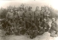 327th Combat Engineers - 2nd Platoon C Company - Grandpa Amzy is sitting down all the way to the right.