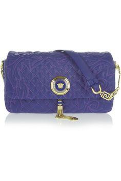 Versace - Vanitas small embroidered leather shoulder bag 3b72823706082