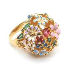 V Victoria Albert Museum > Main Section > Shop by product > Jewellery > Flower Orb Ring by Bill Skinner (Size M) Museum Shop, Ancient Jewelry, Victoria And Albert Museum, Decorative Bowls, Sculptures, Rings, Floral, Shopping, Accessories