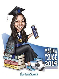 Caricatura sob encomenda para convite, placa e quadro para formatura em Administração. #graduation #caricature