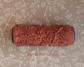 Patterned Paint Roller - Design No.1/  Super cool idea! Rubber Stamp your walls and fabric!
