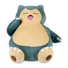 Yawning Snorlax Poké Plush - 12 In. | Pokémon Center Official Site Pokemon Collection, Cute Pokemon, Plushies, Cuddling, Dinosaur Stuffed Animal, Teddy Bear, Crafty, Pillows, Cool Stuff