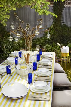 Outdoor christmas table