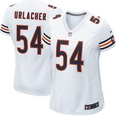 Nike Women's Chicago Bears Brian Urlacher Game White Jersey