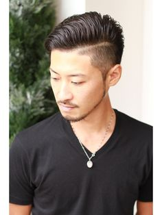 【2017年夏】リーゼントスタイル×2ブロック☆/hair salon for Men idea【イデア】のヘアスタイル|BIGLOBEヘアスタイル