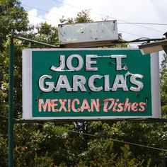 Joe T. Garcia's Mexican Food Restaurant. Ft. Worth, TX   Dan and I love this restaurant!!  Gotta get that salsa..