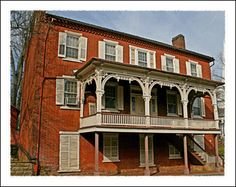 Jonesborough Tennesse The Mansion House (May House) , a stagecoach stop. Tennessee's oldest town.