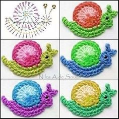 crochet applique Easy to make crochet edgings patterns Appliques Au Crochet, Crochet Applique Patterns Free, Crochet Diagram, Crochet Motif, Crochet Designs, Crochet Stitches, Knitting Patterns, Cross Stitches, Loom Patterns