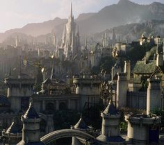 "Warcraft the Movie :: Stormwind :: - by Jaime Jasso ""3D Environment and Matte painting of Stormwind for the last Warcraft film. I had the chance to work on this at ILM from Concept art to final..."