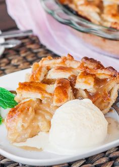 Scrumptious Caramel Pear Pie – serve this with a scoop of good vanilla ice cream. You'll want more than just one slice.