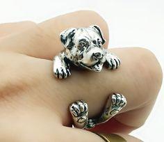 Rottweiler Hug Me Ring