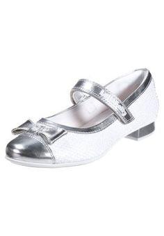 CLAUDE - Ballerina med reim - white/silver