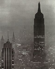 NYC. A one-off, classic night view of the Empire State Building, 1943. // Andreas Feininger