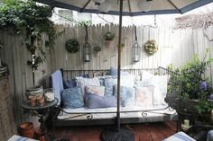 love this idea for outdoor furniture