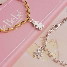 I Bracciali leBebé, scoprili nella versione in oro giallo e in oro bianco e pavè. :) http://www.lebebegioielli.com #fieradiesseremamma #lebebé #gioielli #bracciali