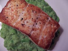 ... : Pan-Seared Halibut with Fava Bean Puree. From Home Cook Kirsten