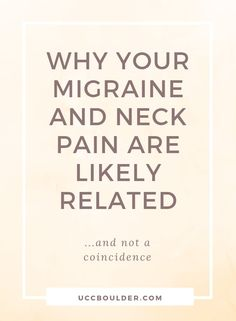 Migraines are often associated with neck pain. Learn more about how injuries can lead to issues with your neck that are interfering with your body's ability to heal, which might include migraine symptoms. In my practice I aim to help Migraine Cause, Migraine Triggers, Migraine Diet, Chronic Migraines, Migraine Relief, Chronic Pain, Yoga For Migraines, Migraine Pain, Migraine Headache