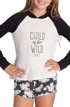 Billabong 'Right Back' Pullover Hoodie (Little Girls & Big Girls) available…