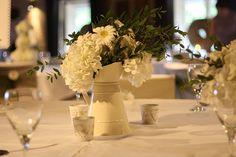 Wedding Flowers in Country Jugs - http://herbigday.net/wedding-flowers-in-country-jugs/