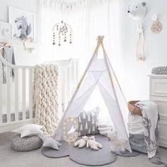 Cinza na decoração de quarto de bebês meninos