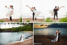 Romantic and fun Maui wedding shots at Kapalua Bay by Mike Sidney Photography!