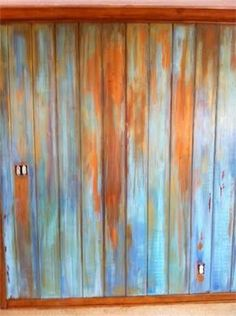 Distressed And Weathered Chalk Painted Wall Paneling By