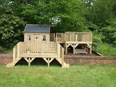 childrens playhouse with large decking
