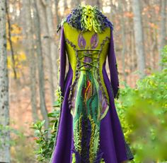 Sweater Coat fantasy boho patchwork woodland style by amberstudios