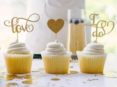'love' and 'i do' in gold glitter fancy script, gold glitter heart Dog Cake Topper, Custom Cake Toppers, Custom Cakes, Wedding Cake Toppers, Baseball Wedding Cakes, Star Wars Cake, Wood Cake, Acrylic Cake Topper, Rustic Cake
