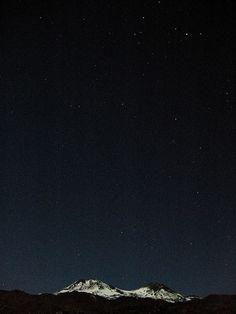 Dark night sky. Peaceful.