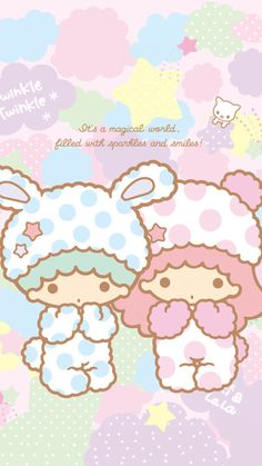 little twin stars 61 Sanrio Wallpaper, Star Wallpaper, Hello Kitty Wallpaper, Kawaii Wallpaper, Wallpaper Iphone Cute, Cute Wallpapers, Little Twin Stars, Little Star, Kawaii Shop