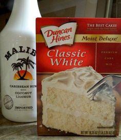 Malibu Rum Cupcakes recipe
