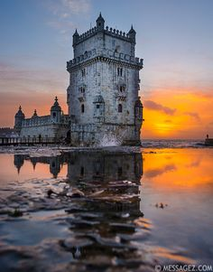 images of lisbon portugal | Best of Lisbon Tower Reflections Fine Art Photography By ...