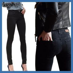 158b98dd8e 2017 Spring Autumn Middle Waist Women hip-lifting Jeans Stretch Skinny  Pencil Pants Black Casual