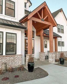 Dream Home Design, My Dream Home, House Design, Dream Land, Dream Big, Modern Rustic, Modern Farmhouse, Rustic Exterior, Exterior Doors