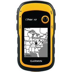 Kayak GPS Garmin eTrex 10 Worldwide Handheld GPS Navigator  $ 87.95      Rugged handheld navigator with preloaded worldwide basemap and 2.2-inch monochrome display     WAAS-enabled GPS receiver with HotFix and GLONASS support for fast positioning and a reliable signal     Waterproof to IPX7 standards for protection against splashes, rain, etc.     Support for paperless geocaching and Garmin spine-mounting accessories     Power with two AA batteries for up to 20 hours of use
