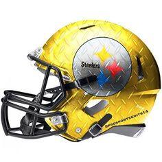 Steelers Steel-Curtain helmet #Pittsburgh #Steelers #PittsburghSteelers #SteelCurtain #Pennsylvania #Pitt #PittsburghPennsylvania #NFL #AntonioBrown #LeVeonBell