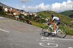 Andy Schleck on Alpe d'Huez