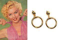 Created exclusively for Pinup Girl Clothing by Elizabeth Claire Taylor, these clip-on hoops are described by her as a modern take on the classic pinup hoops of the 1950's just like the hoops Marilyn Monroe wore in Niagara and Gentlemen Prefer Blondes.