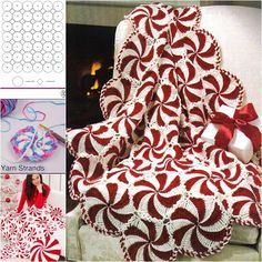 Wonderful DIY Crochet Peppermint Swirl Afghan | WonderfulDIY.com