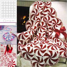 Wonderful DIY Crochet Peppermint Swirl Afghan | WonderfulDIY.com